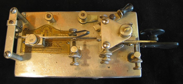 1929 Vibroplex Nr. 6 Nickel finish